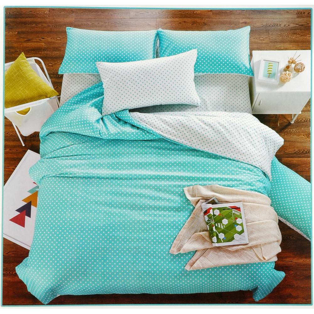 Zöld fehér pettyes 7 részes ágynemű